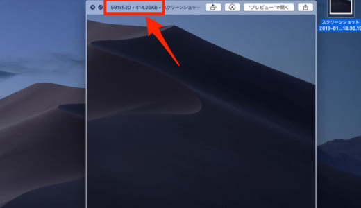 【Mac Mojave qlImageSize】クイックルックのタイトルバーにファイル容量を表示する